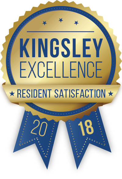 Kingsley Resident Satisfaction Survey Award